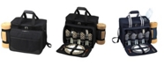 Picnic At Ascot Picnic Cooler for 4 with Blanket - Divided Waterproof Interior