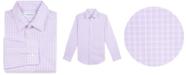 Calvin Klein Big Boys Slim-Fit Stretch Plaid Dress Shirt