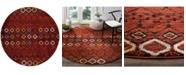 "Safavieh Amsterdam Terracotta and Multi 6'7"" x 6'7"" Round Area Rug"
