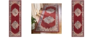 "Safavieh Merlot Red and Aqua 2'9"" x 8' Runner Area Rug"