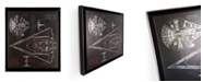"Artissimo Designs Rebel & Empire Ships Framed Silver Metallic Canvas Art - 26.25"" W x 20.25"" H x 1.56"" D"
