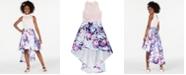 Speechless Big Girls Floral-Print Cold Shoulder Dress