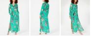 Lola Grace Juniors' Floral Maxi Shirtdress