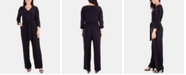 NY Collection Elbow-Sleeve V-Neck Jumpsuit
