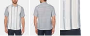 Cubavera Men's Yarn-Dyed Stripe Pintucked Panel Linen Shirt