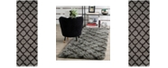 "Safavieh Indie Grey and Dark Grey 2'3"" x 7' Runner Area Rug"