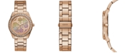 GUESS Women's G Twist Rose Gold-Tone Stainless Steel Bracelet Watch 40mm