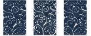 Safavieh Shag Dark Blue and Cream 6' x 9' Area Rug