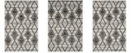 "Safavieh Tunisia Gray and Black 5'1"" x 7'6"" Area Rug"