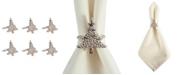 Design Import Christmas Tree Napkin Ring, Set of 6