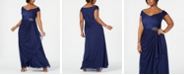 Alex Evenings Plus Size Embellished Off-The-Shoulder Gown