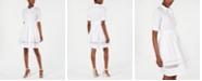 Calvin Klein Cotton Lace-Trim Shirtdress