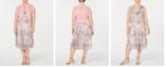Robbie Bee Plus Size Printed Midi Dress & Shrug