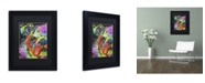 """Trademark Global Dean Russo 'What you lookin at' Matted Framed Art - 11"""" x 14"""" x 0.5"""""""