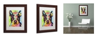 """Trademark Global Dean Russo 'Boston Terrier Crowned' Matted Framed Art - 14"""" x 11"""" x 0.5"""""""