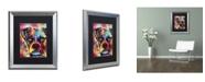 "Trademark Global Dean Russo 'Boxer Cubism' Matted Framed Art - 20"" x 16"" x 0.5"""