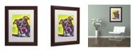 "Trademark Global Dean Russo 'Brindle' Matted Framed Art - 14"" x 11"" x 0.5"""