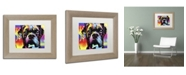 "Trademark Global Dean Russo 'Choose Adoption Boxer' Matted Framed Art - 14"" x 11"" x 0.5"""