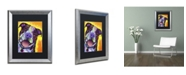 "Trademark Global Dean Russo 'Daisy Pit' Matted Framed Art - 20"" x 16"" x 0.5"""