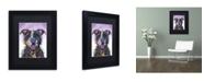 """Trademark Global Dean Russo 'Love Not a Fighter' Matted Framed Art - 11"""" x 14"""" x 0.5"""""""