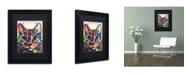 "Trademark Global Dean Russo 'Maya Cat' Matted Framed Art - 11"" x 14"" x 0.5"""