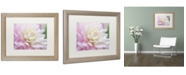 """Trademark Global Cora Niele 'White and Pink Dahlia' Matted Framed Art - 20"""" x 16"""" x 0.5"""""""