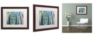 "Trademark Global Cora Niele 'Buddha with Bamboo' Matted Framed Art - 20"" x 16"" x 0.5"""
