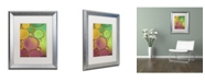 "Trademark Global Cora Niele 'Green and Orange Drops' Matted Framed Art - 20"" x 16"" x 0.5"""