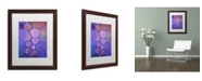 """Trademark Global Cora Niele 'Purple Stained Glass' Matted Framed Art - 20"""" x 16"""" x 0.5"""""""