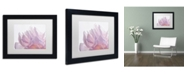 "Trademark Global Cora Niele 'Pink Peony Petals VI' Matted Framed Art - 11"" x 14"" x 0.5"""
