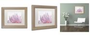 "Trademark Global Cora Niele 'Pink Peony Petals VI' Matted Framed Art - 14"" x 11"" x 0.5"""