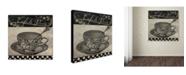 "Trademark Global Color Bakery 'Bistro Parisienne IV' Canvas Art - 24"" x 2"" x 24"""