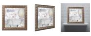 """Trademark Global Color Bakery 'Beach House I' Ornate Framed Art - 16"""" x 0.5"""" x 16"""""""