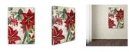 "Trademark Global Color Bakery 'Amaryllis' Canvas Art - 18"" x 2"" x 24"""