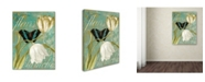"Trademark Global Color Bakery 'White Tulips' Canvas Art - 18"" x 2"" x 24"""