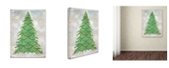 """Trademark Global Cora Niele 'Decorated Green and Gold Xmas Tree' Canvas Art - 47"""" x 35"""" x 2"""""""