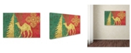 "Trademark Global Cora Niele 'Xmas Tree and Camel' Canvas Art - 32"" x 22"" x 2"""