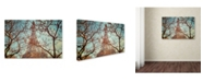 "Trademark Global Cora Niele 'Eiffel Tower Vintage' Canvas Art - 19"" x 12"" x 2"""