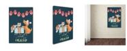 "Trademark Global Deborah Faenza 'Best Gift Ever Puppy Box And Mittens' Canvas Art - 24"" x 16"" x 2"""