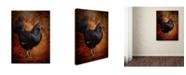 "Trademark Global Jai Johnson 'Black Bantam Chicken' Canvas Art - 19"" x 14"" x 2"""