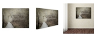 "Trademark Global Jai Johnson 'Discover-Explore-Follow Your Path' Canvas Art - 47"" x 35"" x 2"""