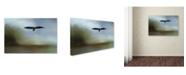 "Trademark Global Jai Johnson 'Juvenile Eagle At The Lake' Canvas Art - 19"" x 12"" x 2"""