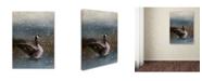 "Trademark Global Jai Johnson 'Snowy Swim' Canvas Art - 24"" x 18"" x 2"""