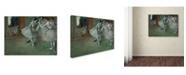 "Trademark Global Degas 'A Group Of Dancers' Canvas Art - 47"" x 35"" x 2"""