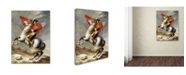 "Trademark Global David 'Bonaparte Crossing The Grand Saintbernard Pass' Canvas Art - 47"" x 35"" x 2"""
