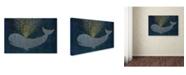 "Trademark Global Cora Niele 'Gold Spraying Whale' Canvas Art - 32"" x 22"" x 2"""