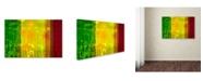 "Trademark Global Cora Niele 'Flower Shades Green Yellow Red' Canvas Art - 24"" x 16"" x 2"""