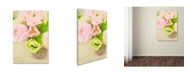 """Trademark Global Cora Niele 'Pink And Lime Spring Bouquet Iii' Canvas Art - 19"""" x 12"""" x 2"""""""