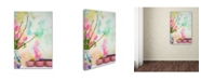 """Trademark Global Cora Niele 'Tulips And Paint Brushes' Canvas Art - 47"""" x 30"""" x 2"""""""