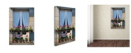 "Trademark Global Cora Niele 'Window With Red Geraniums' Canvas Art - 24"" x 16"" x 2"""